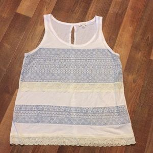 Charming Charlie lace designed tank size L